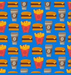 street fast food seamless pattern vector image vector image