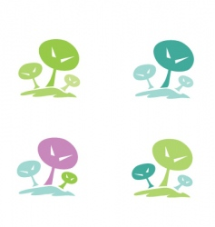 trees pictogram vector image vector image