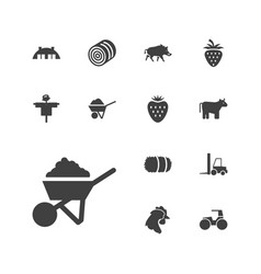 13 agriculture icons vector