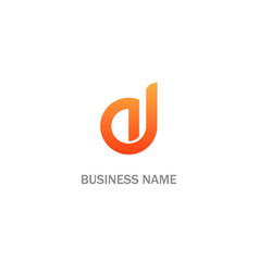 abstract initial business logo vector image