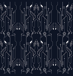 abstract tech line pattern vector image