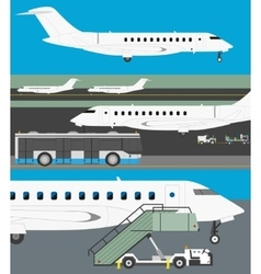 Airport set vector image