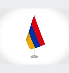Armenia flag on white background vector