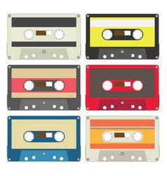 Audio tape set iii vector