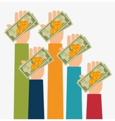 Bank money and investment vector image