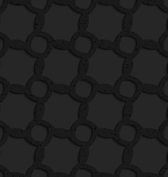 Black textured plastic ovals forming irregular vector