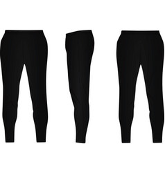 Black tracksuit bottom vector