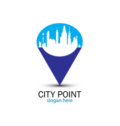 blue city point vector image