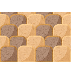 bread pieces pattern with whole wheat bread rye vector image