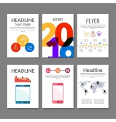 Business Flyer set Brochure with infographics vector image