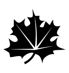 Canadian maple leaf icon simple style vector