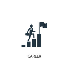 career icon simple element career vector image