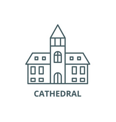 cathedral line icon cathedral outline vector image