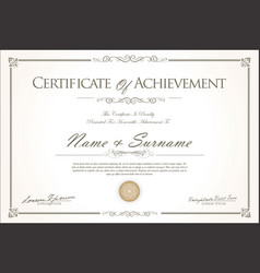 certificate or diploma retro vintage design 3 vector image