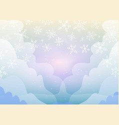 christmas and winter transparent background vector image