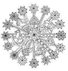 Circle Christmas ornamen vector