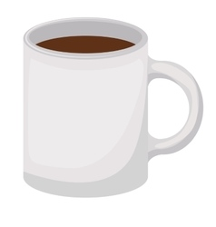 coffee cup drawn isolated icon vector image