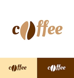 Coffee word logo vector image