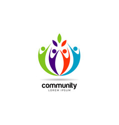 colorful community logo symbol vector image