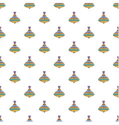 Colorful spinning top pattern vector