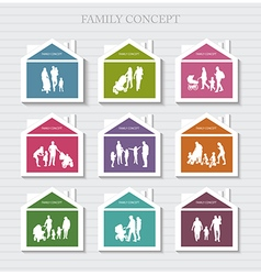 Conceptual Banner for Family vector image