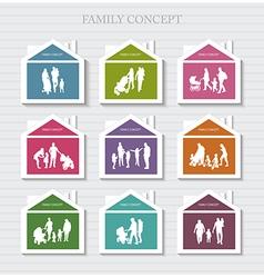 Conceptual banner for family vector
