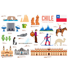 Country chile travel vacation guide of goods vector