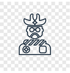 cowboy concept linear icon isolated on vector image