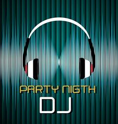 DJ design vector image vector image