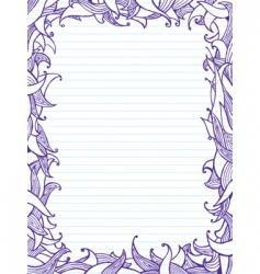 doodles frame vector image