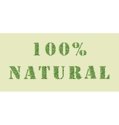 Ecology nature design 100 Natural vector image