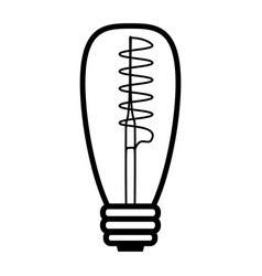 edison spiral lamp outline style vector image
