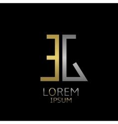 EG letters logo vector image