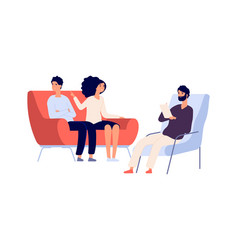 family psychotherapy session psychotherapist vector image