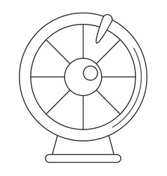 fortune wheel icon outline style vector image