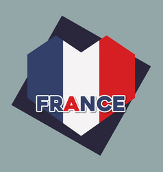 france culture card with flag and heart vector image