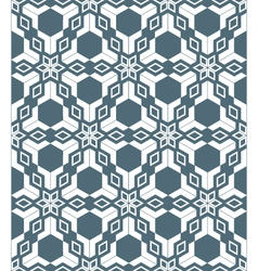 geometric abstract flowers monochrome seamless vector image