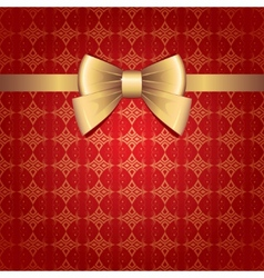 gold bow vector image