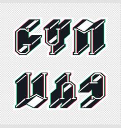 Gym sticker design vector