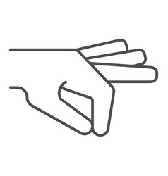 hand gesture thin line icon arm in gesture vector image