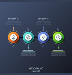 infographic design template with 4 lettered vector image