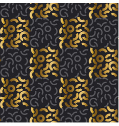 luxury style seamless pattern with gold vector image
