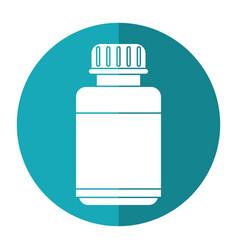 medicine bottle capsule icon shadow vector image