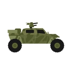 Military jeep vector image
