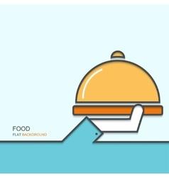 modern outline flat design menu vector image
