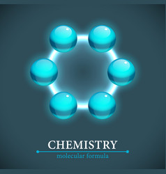 Molecule isolated on dark background vector