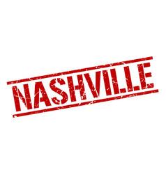 Nashville red square stamp vector