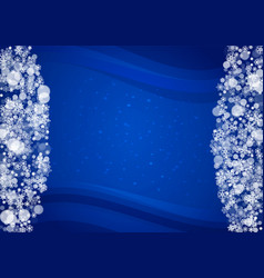 new year snow on blue background vector image