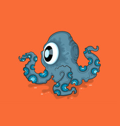 octopus cute monster vector image