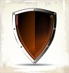 Orange Shield vector image